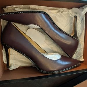 Coach oxblood heels